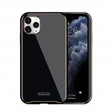 Dėklas Glass Case Apple iPhone 11 juodas