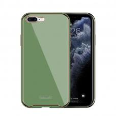 Dėklas Glass Case Apple iPhone 7/8/SE2 šviesiai žalias