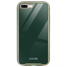 Dėklas Glass Case Apple iPhone 7/8/SE2 tamsiai žalias