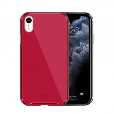 Dėklas Glass Case Apple iPhone XR rožinis