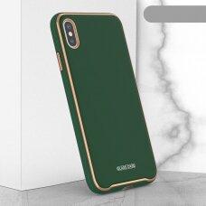 Dėklas Glass Case Apple iPhone XR tamsiai žalias