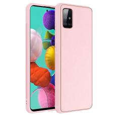 Dėklas Gold Line Samsung A715 A71 rožinis