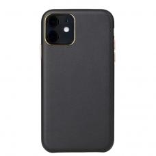 Dėklas Leather Case Apple iPhone 11 juodas