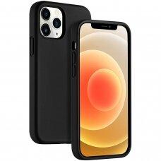 Dėklas Liquid Silicone 1.5Mm Apple Iphone 12 Pro Juodas