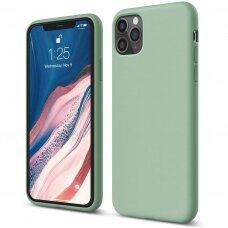Dėklas Liquid Silicone 1.5Mm Apple Iphone 12 Pro Max Mėtinis