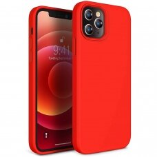 Dėklas Liquid Silicone 1.5Mm Apple Iphone 12 Pro Max Raudonas
