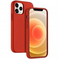 Dėklas Liquid Silicone 1.5Mm Apple Iphone 12 Raudonas