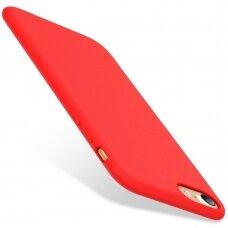 Dėklas Liquid Silicone 1.5Mm Apple Iphone 7/8/Se2 Raudonas