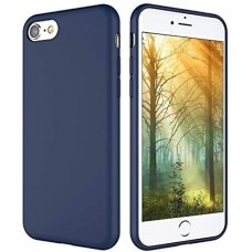 Dėklas Liquid Silicone 1.5Mm Apple Iphone 7/8/Se2 Tamsiai Mėlynas