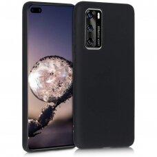 Dėklas Liquid Silicone 1.5Mm Huawei P40 Juodas