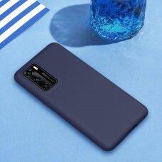 Dėklas Liquid Silicone 1.5Mm Huawei P40 Tamsiai Mėlynas