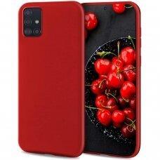 Dėklas Liquid Silicone 1.5mm Samsung A515 A51 raudonas UCS025