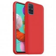 Dėklas Liquid Silicone 1.5Mm Samsung A715 A71 Raudonas