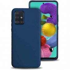Dėklas Liquid Silicone 1.5Mm Samsung A715 A71 Tamsiai Mėlynas