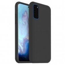Dėklas Liquid Silicone 1.5Mm Samsung G981 S20/S11E Juodas