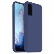 Dėklas Liquid Silicone 1.5Mm Samsung G981 S20/S11E Tamsiai Mėlynas