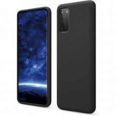 Dėklas Liquid Silicone 1.5Mm Samsung G986 S20 Plus/S11 Juodas