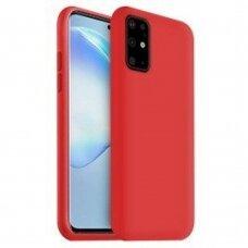 Dėklas Liquid Silicone 1.5Mm Samsung G986 S20 Plus/S11 Raudonas