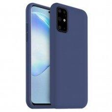 Dėklas Liquid Silicone 1.5Mm Samsung G986 S20 Plus/S11 Tamsiai Mėlynas