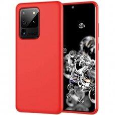 Dėklas Liquid Silicone 1.5Mm Samsung G988 S20 Ultra/S11 Plus Raudonas