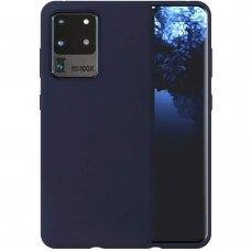 Dėklas Liquid Silicone 1.5Mm Samsung G988 S20 Ultra/S11 Plus Tamsiai Mėlynas