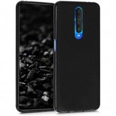 Dėklas Liquid Silicone 1.5mm Xiaomi Redmi K30 juodas UCS140