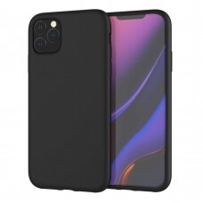 Dėklas Liquid Silicone 2.0mm Apple iPhone 11 Pro Max juodas USC056