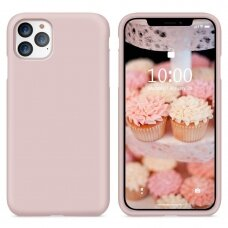Dėklas Liquid Silicone 2.0mm Apple iPhone 11 Pro Max rožinis USC056