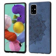Dėklas Mandala Samsung A715 A71 Tamsiai Mėlynas