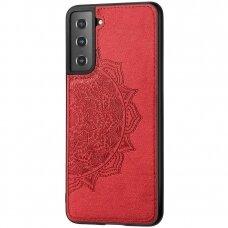 Dėklas Mandala Samsung S21 FE raudonas