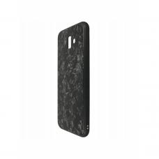 Dėklas Marble Glass Samsung J610 J6 Plus 2018 juodas UCS047