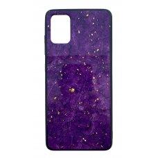 Dėklas Marble Samsung A515 A51 Violetinis