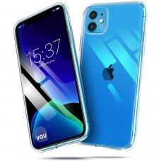 Dėklas Mercury Jelly Clear Apple Iphone 11 Pro Max Skaidrus