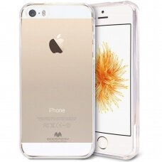 Dėklas Mercury Jelly Clear Apple Iphone 5G/5S Skaidrus