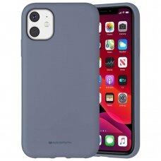 Dėklas Mercury Silicone Case Apple Iphone 11 Levandos Pilka