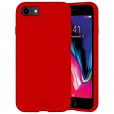 Dėklas Mercury Silicone Case Apple Iphone 7/8/Se2 Raudonas
