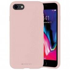 Dėklas Mercury Silicone Case Apple Iphone 7/8/Se2 Rožinio Smėlio