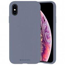 Dėklas Mercury Silicone Case Apple Iphone X/Xs Levandos Pilka