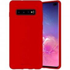 Dėklas Mercury Silicone Case Samsung G970 S10E Raudonas