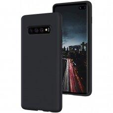 Dėklas Mercury Silicone Case Samsung G975 S10 Plus Juodas