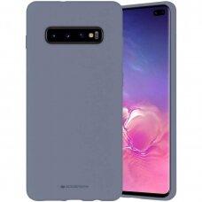 Dėklas Mercury Silicone Case Samsung G975 S10 Plus Levandos Pilka