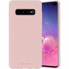 Dėklas Mercury Silicone Case Samsung G975 S10 Plus Rožinio Smėlio