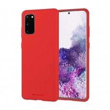 Dėklas Mercury Silicone Case Samsung G981 S20 raudonas UCS003