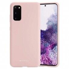 Dėklas Mercury Silicone Case Samsung G981 S20 Rožinio Smėlio