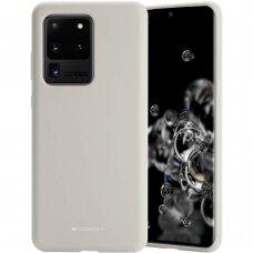 Dėklas Mercury Silicone Case Samsung G988 S20 Ultra Akmens Spalvos
