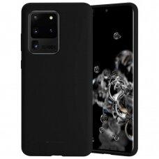 Dėklas Mercury Silicone Case Samsung G988 S20 Ultra Juodas
