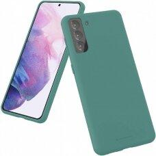 Dėklas Mercury Silicone Case Samsung S21 Plus tamsiai žalias