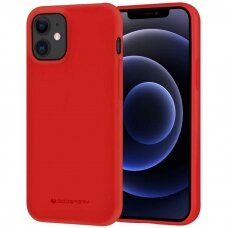 Dėklas Mercury Soft Jelly Case Apple Iphone 12/12 Pro Raudonas