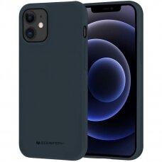 Dėklas Mercury Soft Jelly Case Apple Iphone 12/12 Pro Tamsiai Mėlynas