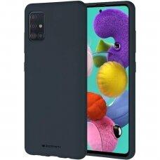 Dėklas Mercury Soft Jelly Case Samsung A03s tamsiai mėlynas